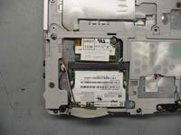 Toshiba Portege A100. Remove modem card and wireless card.