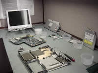 Toshiba Portege A100. Laptop disassembled.