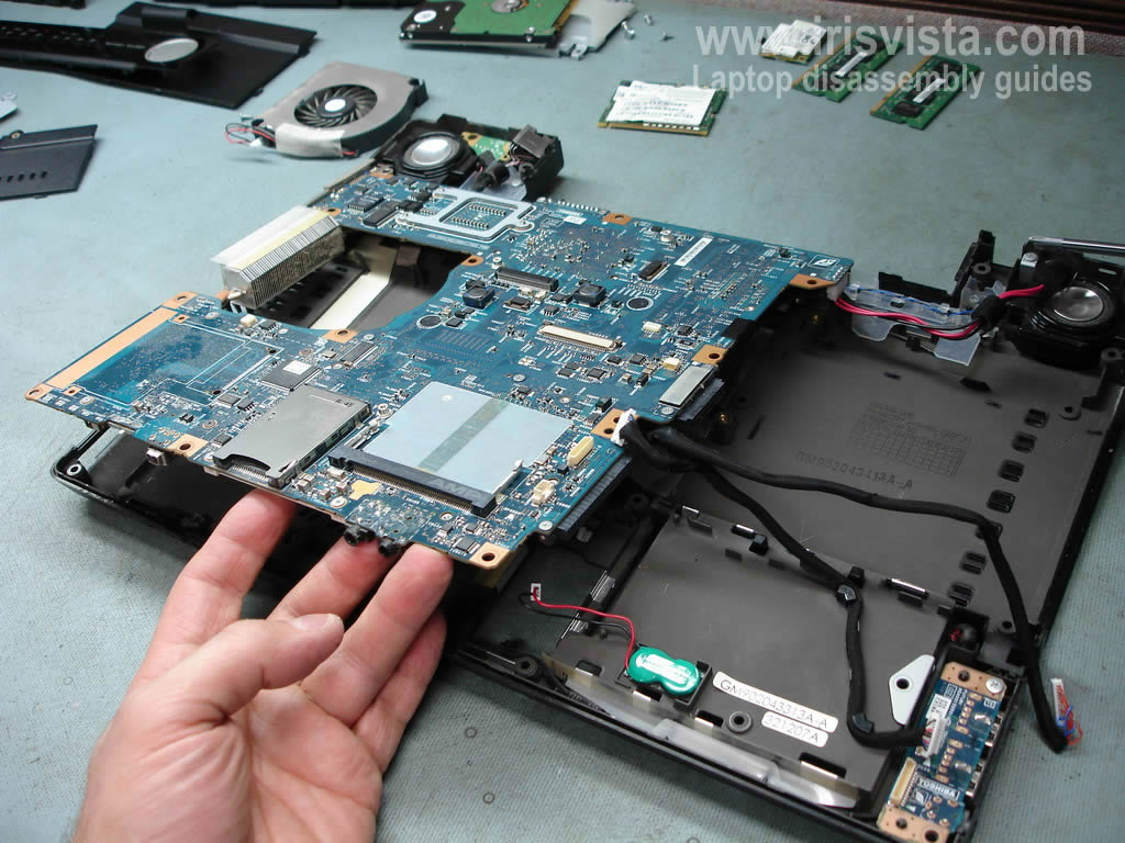 How to remove the motherboard