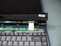 Toshiba Satellite 1200. Disconnect control board.