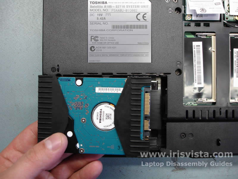 Toshiba Satellite A105 A100 Tecra A7 Disassembly Guide