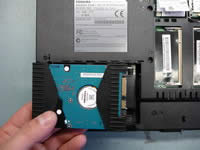 Remove laptop hard drive