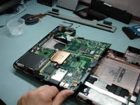 Remove laptop moterboard