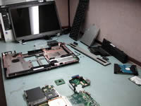 Toshiba Satellite A105 disassembled