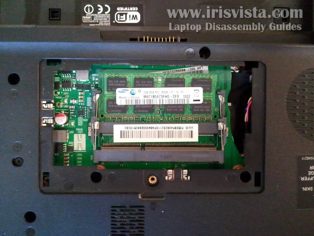 Toshiba Satellite C655 C650 C650d Disassembly Fan For Laptop Wiring Diagram Step 4 In