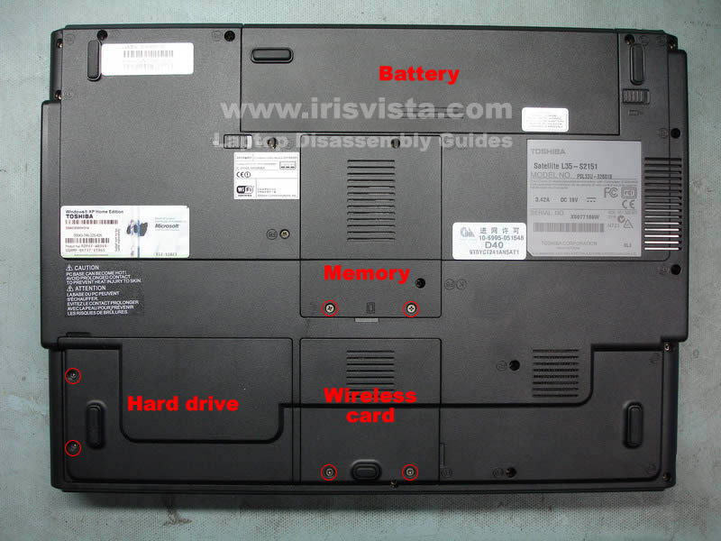 toshiba satellite l35 l30 disassembly guide rh irisvista com Toshiba Laptop Computer Parts Toshiba Laptop Parts and Schematics