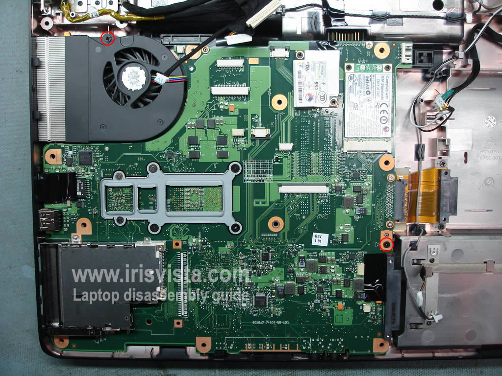 Toshiba Satellite L355 L355d L350 L350d Disassembly Collection Laptop Parts Diagram Pictures Diagrams Removing Motherboard