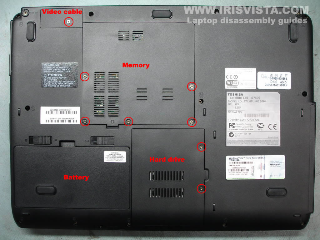 toshiba satellite l45 l40 disassembly guide Toshiba Satellite Laptop Problems Laptops Disassembly Toshiba L445-S5976