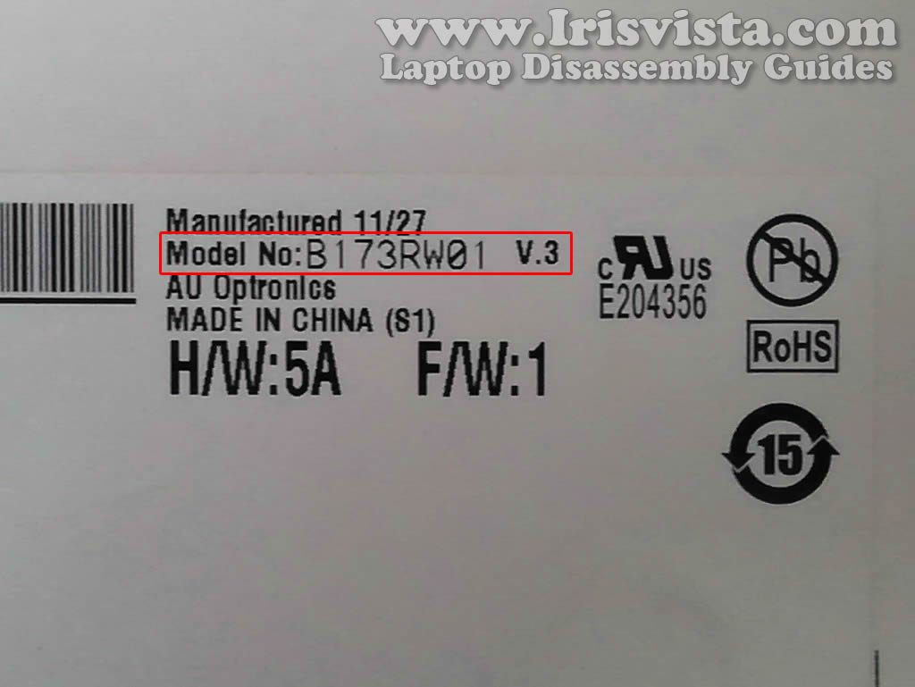 how to find the model number of my laptop toshiba