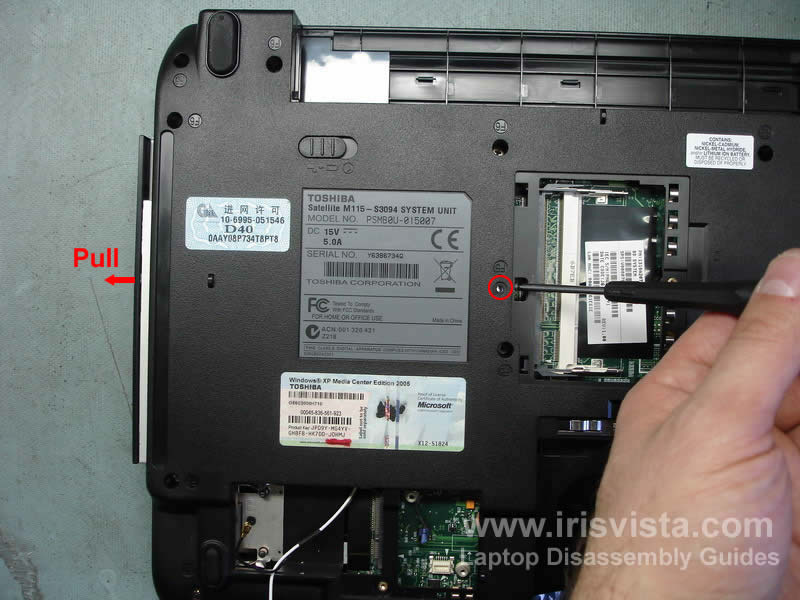 Toshiba Satellite M115 M110 disassembly guide