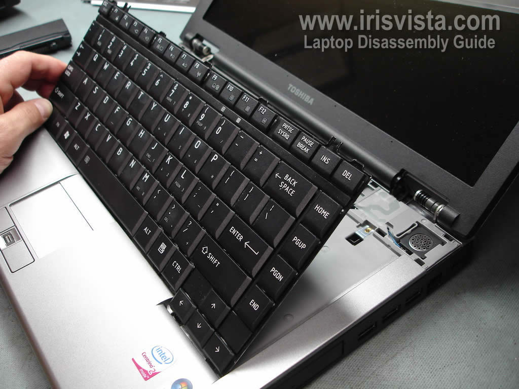 Toshiba Satellite Pro S300m Keyboard Removal Guide