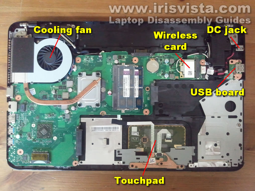 Toshiba Satellite S855, S855D, S850, S850D disassembly.