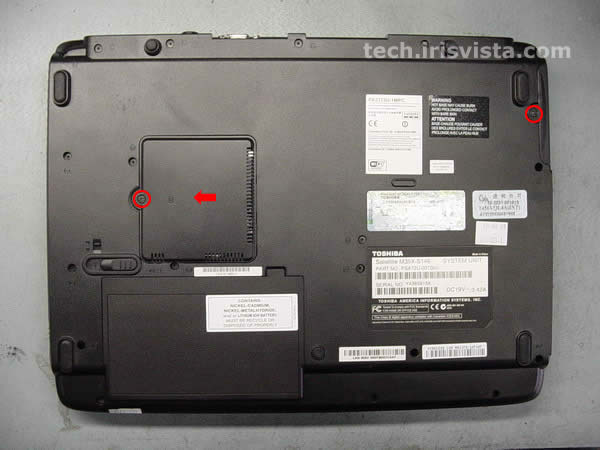 Toshiba Satellite M35X M30X disassembly guide