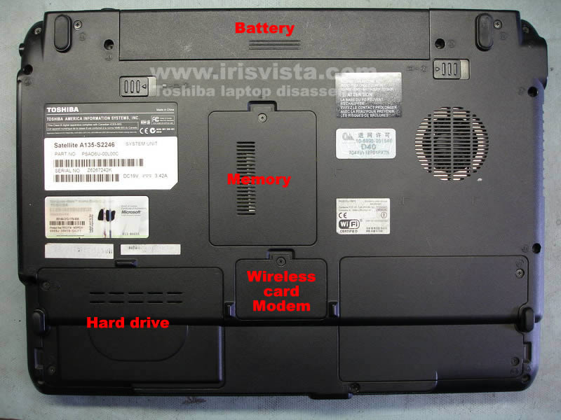 toshiba satellite a135 a130 disassembly guide rh irisvista com Toshiba Satellite A135 S4527 Drivers Toshiba Satellite A135 Drivers