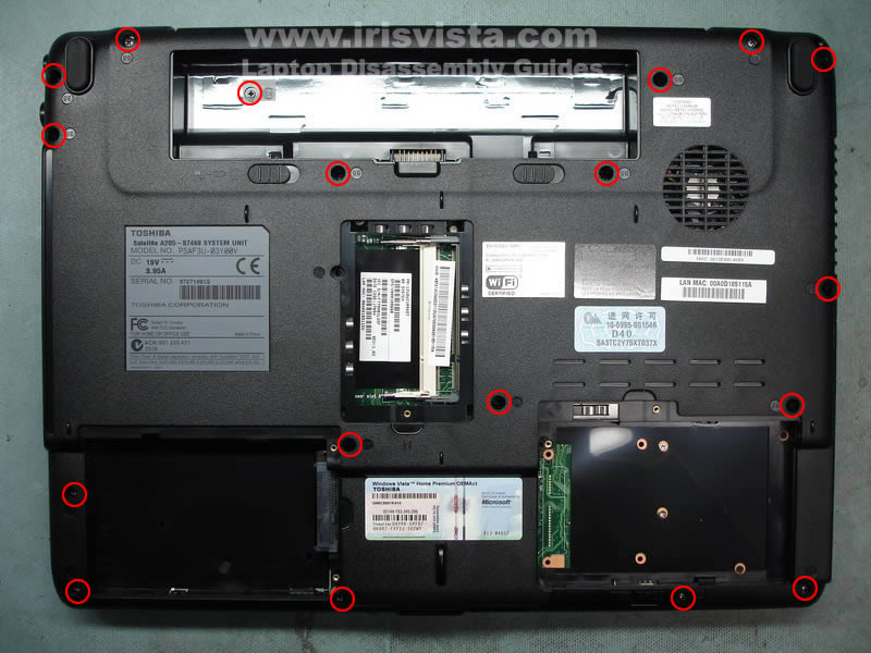how to disassemble toshiba satellite a200 laptop and share the knownledge Wireless Button Toshiba Satellite A205-S7468 Toshiba Satellite A135 Disassembly