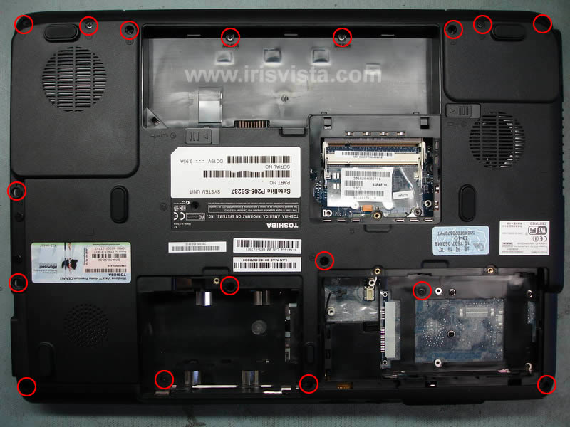 Toshiba Satellite P205 P200 disassembly guide